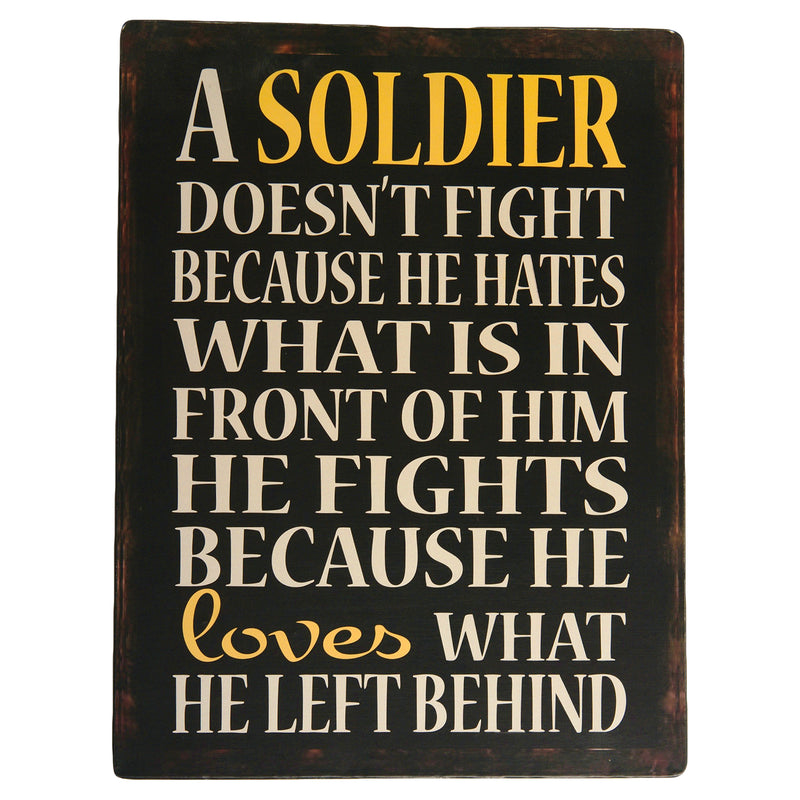 U.S. Military 13x10 Soldier doesnt fight Tin Sign - UNIFORMED®