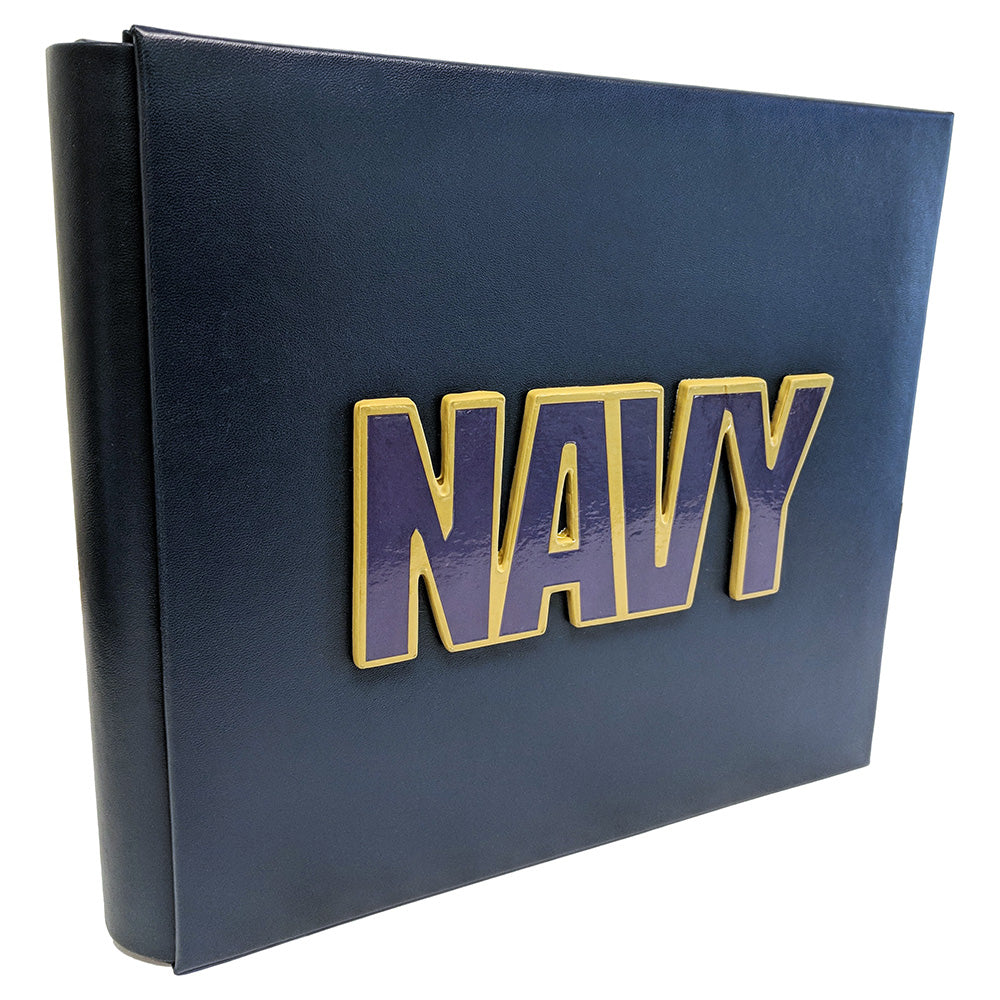 US NAVY 8x8 ALBUM W/ 3D LOGO - UNIFORMED®
