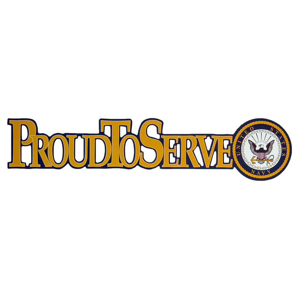 Navy Proud to Serve Magnet - UNIFORMED®