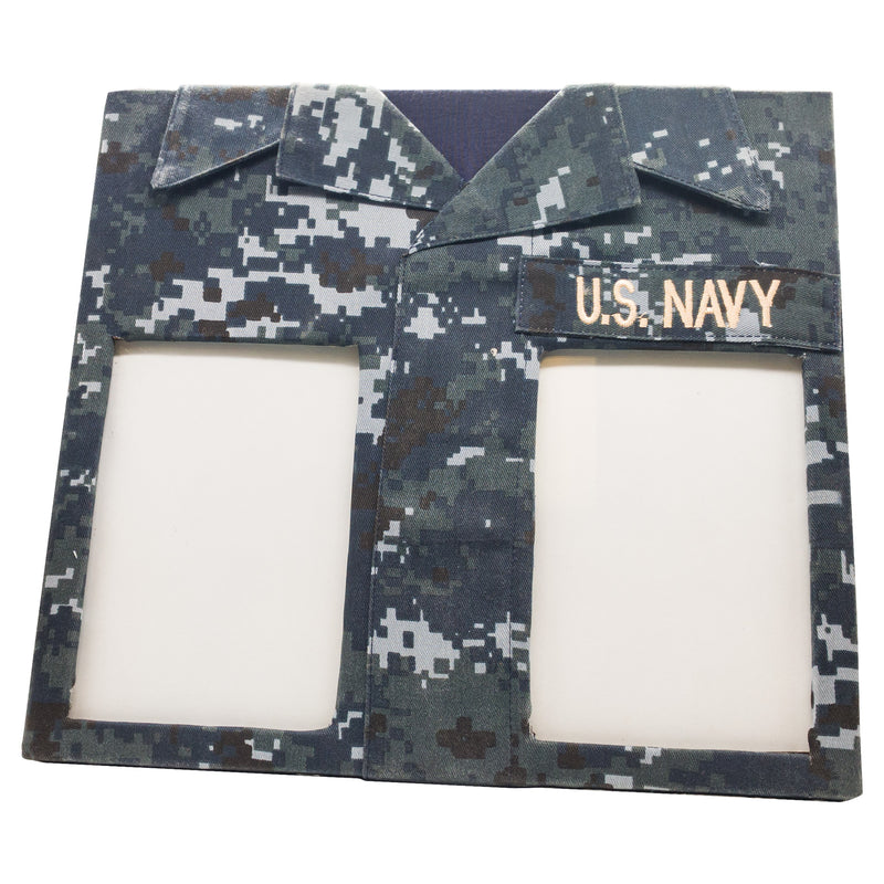 NAVY DOUBLE PICTURE FRAME - UNIFORMED®