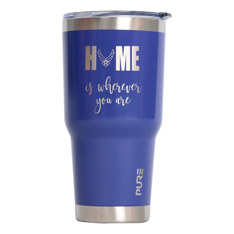 "PURE Drinkware 30 oz Tumbler - Air Force ""Home is wherever you are"" - UNIFORMED®"