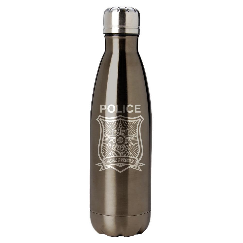 PURE Drinkware 17 oz Bottle - Police Department (Police Grey) - UNIFORMED®