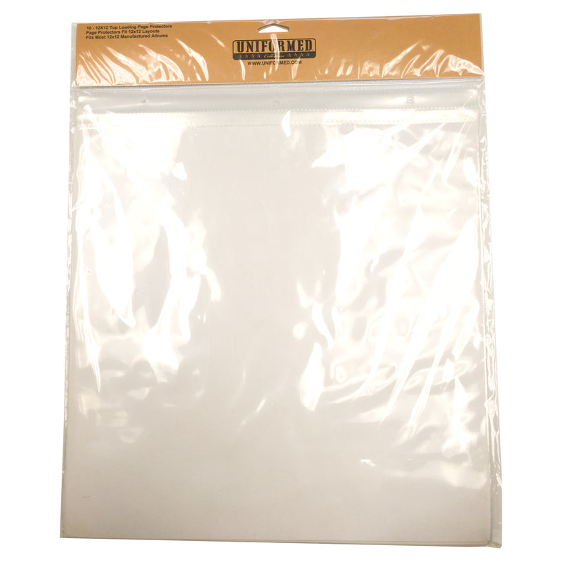 "10 pack - 12"" x 12"" Top Loading Page Protectors - UNIFORMED®"