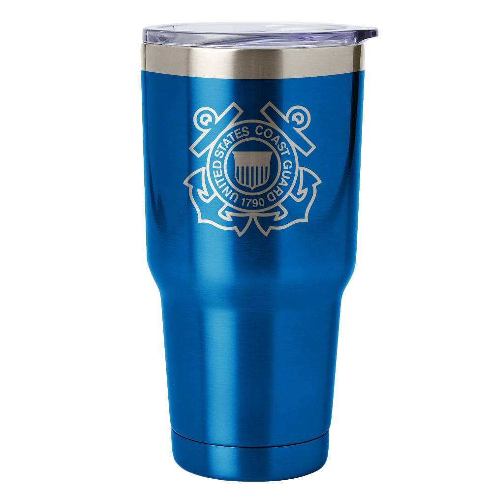 PURE Drinkware 30 oz Tumbler - Coast Guard (Water Blue) - UNIFORMED®