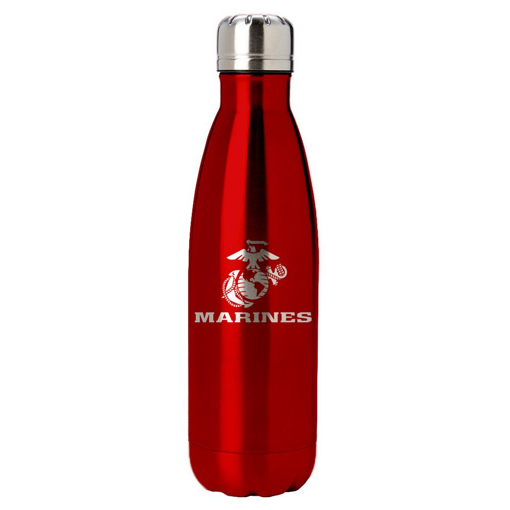 PURE Drinkware 17 oz Bottle - Marine Corps (Red) - UNIFORMED®
