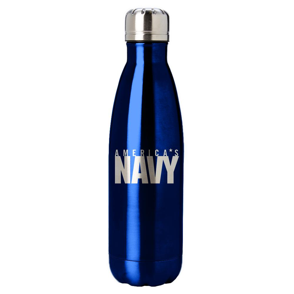 PURE Drinkware 17 oz Bottle - US Navy (Navy Blue) - UNIFORMED®
