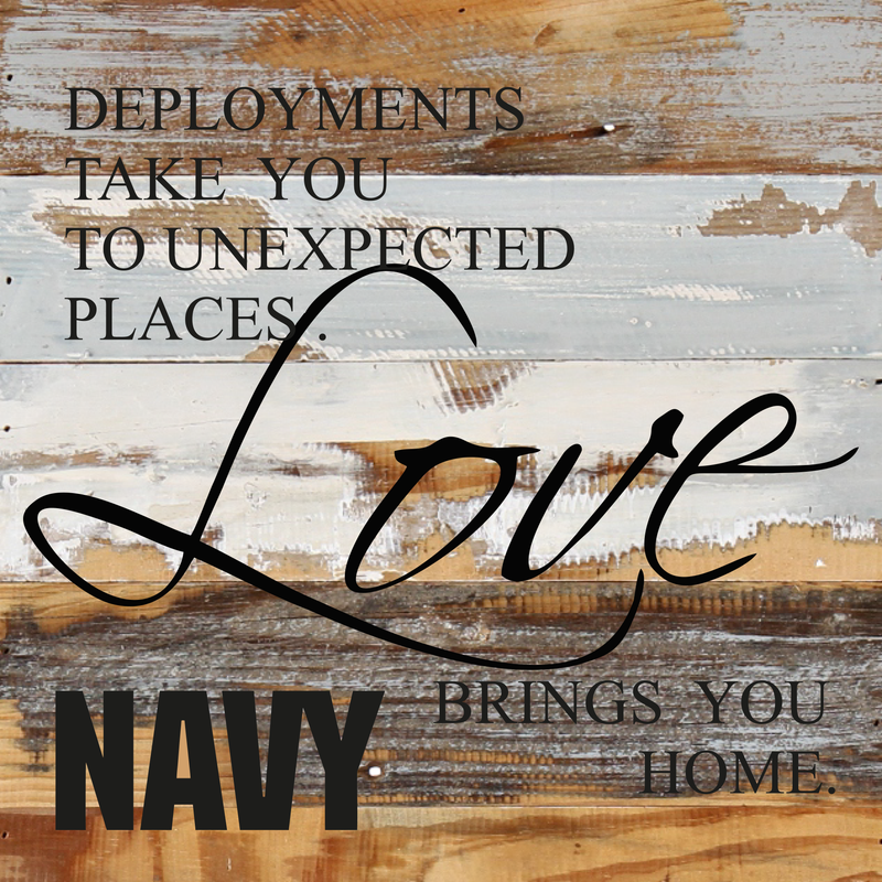 12x12 LOVE BRINGS YOU HOME WOOD SIGN - NAVY - UNIFORMED®