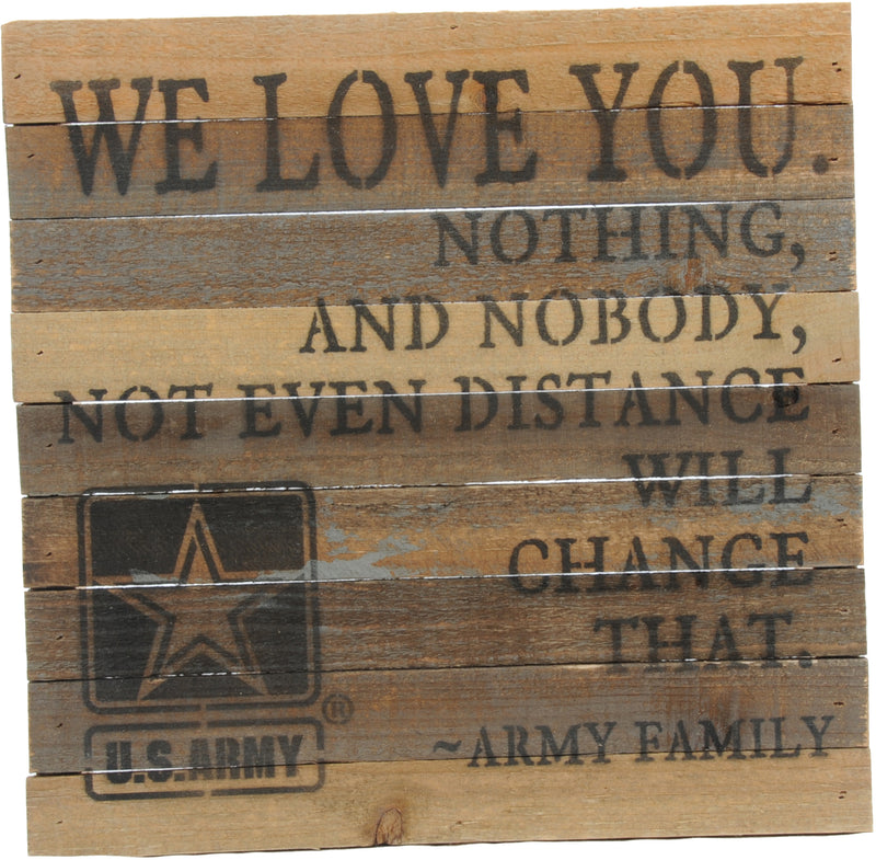 12x12 WE LOVE YOU WOOD SIGN - ARMY - UNIFORMED®