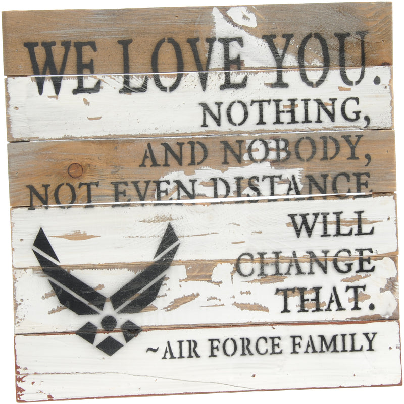 12x12 WE LOVE YOU WOOD SIGN - AIR FORCE - UNIFORMED®