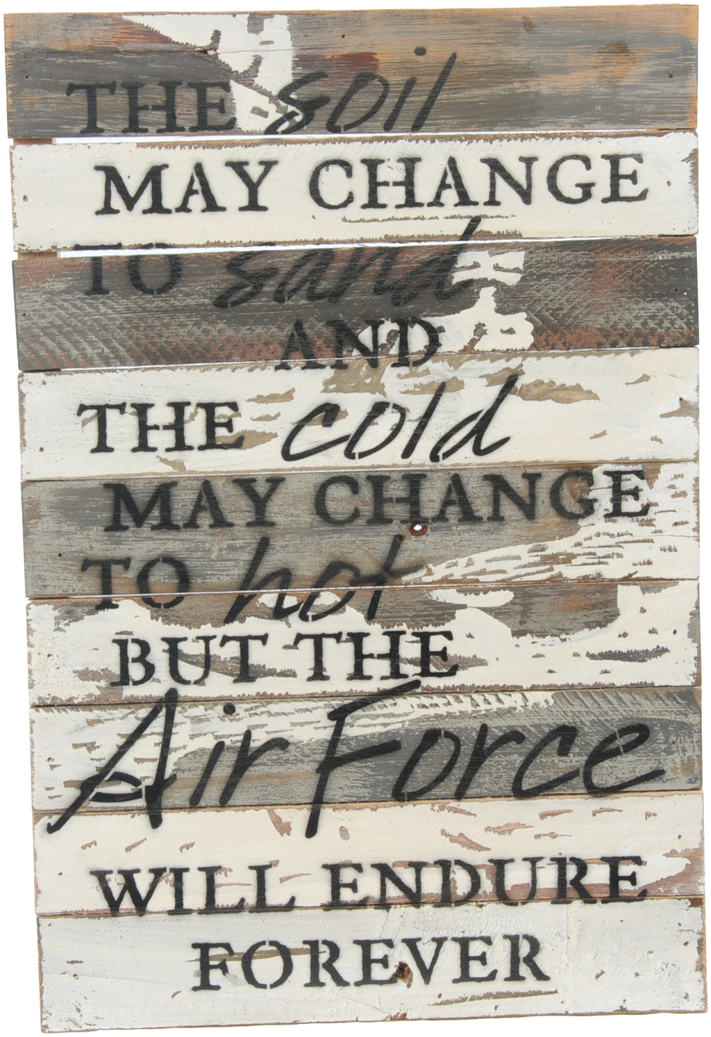 12x18 ENDURE FOREVER WOOD SIGN - AIR FORCE - UNIFORMED®