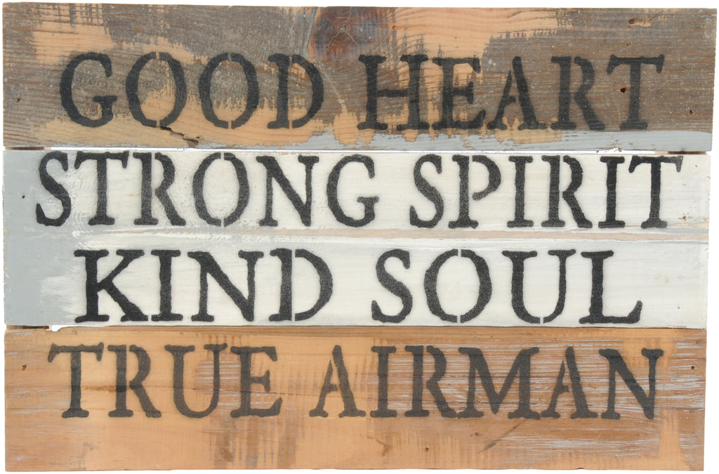 12x8 TRUE AIRMAN WOOD SIGN - AIR FORCE - UNIFORMED®