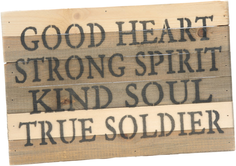 12x8 TRUE SOLDIER WOOD SIGN - ARMY - UNIFORMED®
