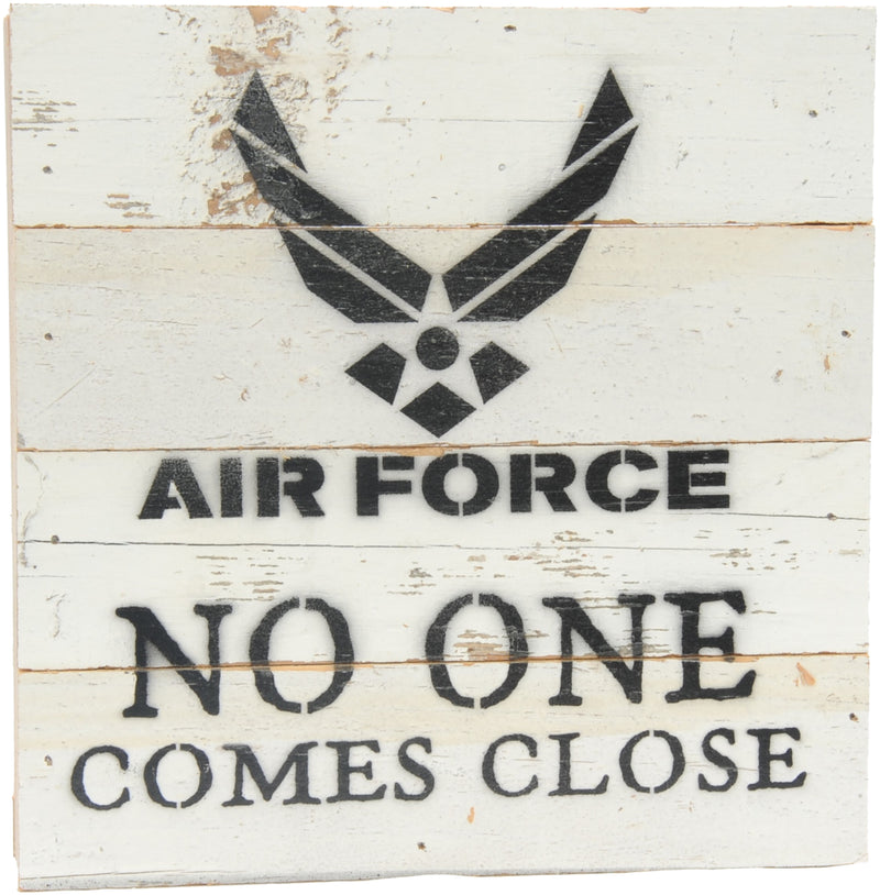 8x8 NO ONE COMES CLOSE WOOD SIGN - AIR FORCE - UNIFORMED®