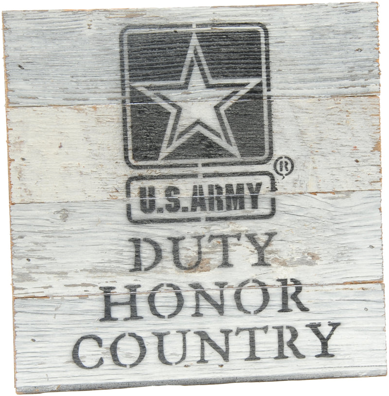 8x8 DUTY HONOR COUNTRY WOOD SIGN - ARMY - UNIFORMED®