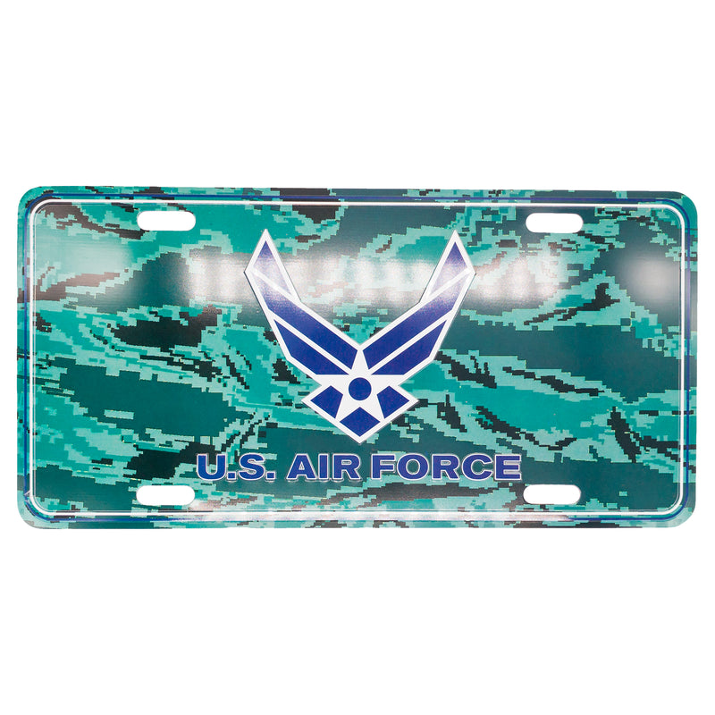 U.S. Air Force 12 x 6 (.7mm) Camo License Plate - UNIFORMED®