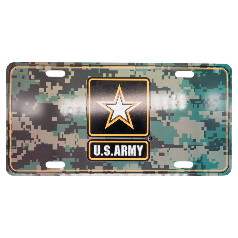 U.S. Army 12 x 6 (.7mm) Camo License Plate - UNIFORMED®