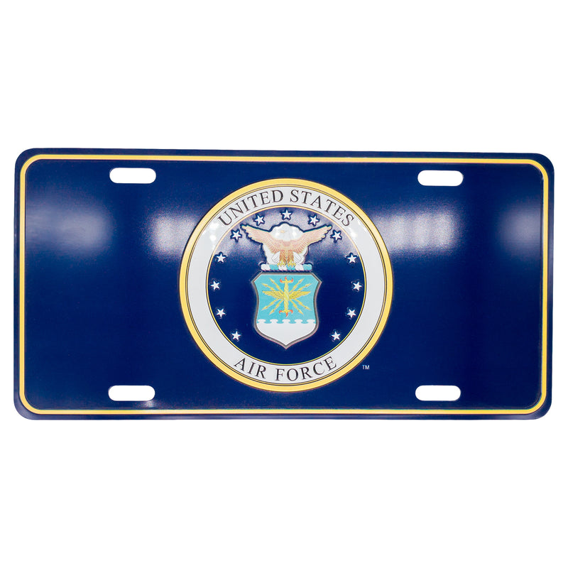 U.S. Air Force 12 x 6 (.7mm) Emblem License Plate - UNIFORMED®