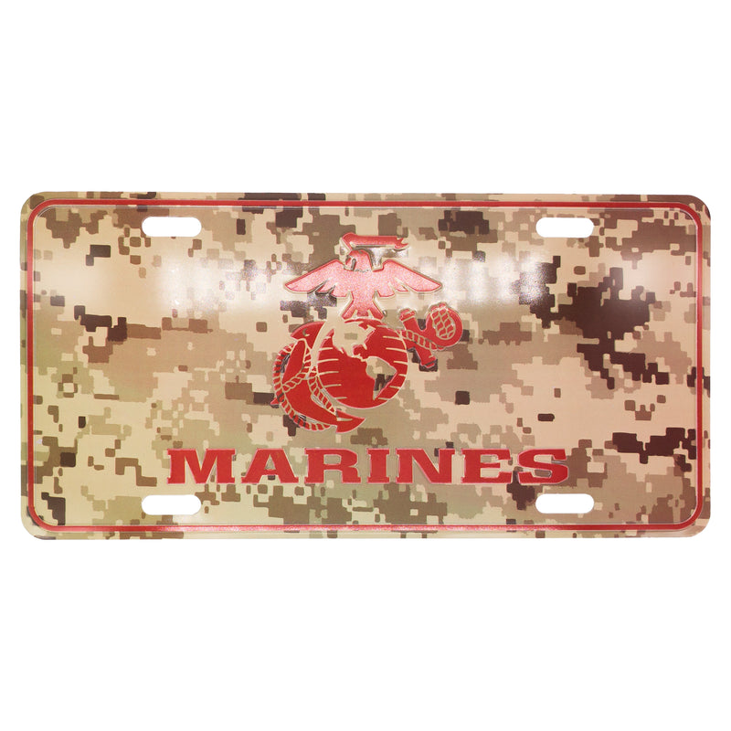 U.S. Marine 12 x 6 (.7mm) Camo License Plate - UNIFORMED®
