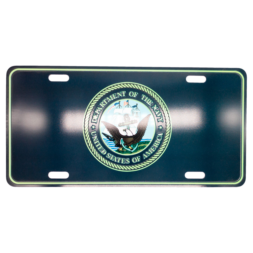 U.S. Navy 12 x 6 (.7mm) Emblem License Plate - UNIFORMED®
