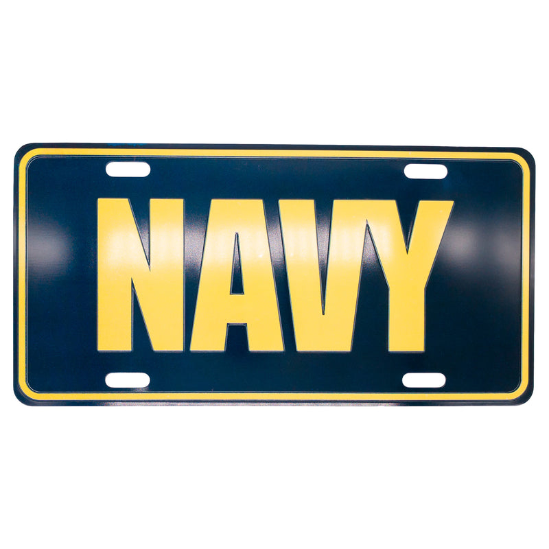 U.S. Navy 12 x 6 (.7mm) Gold Letter License Plate - UNIFORMED®