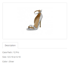 Metallic Silver High Heel  Ankle Strap Sandals