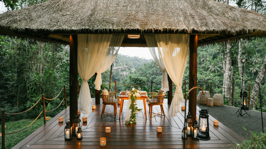 Romantic Cabana In The Ubud Rainforest