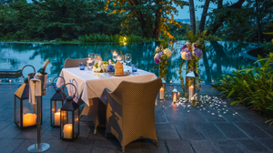 Romantic Dinner By The Pool In Sentosa