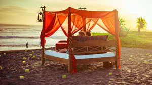 Picnic In Bed On A Beach In Canggu