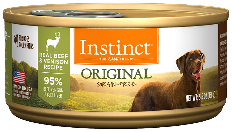 Nature's Variety Instinct Grain-Free Venison Formula Canned Dog Food