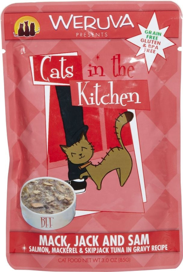 Weruva Cats In the Kitchen Mack Jack and Sam Cat Pouches Wet Cat Food