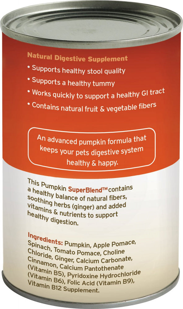 Fruitables Pumpkin SuperBlend Digestive Canned Supplement for Dogs & Cats