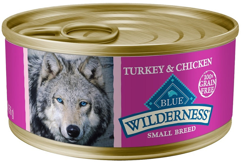 Blue Buffalo Wilderness Grain Free Small Breed Turkey and Chicken Grill Canned Dog Food