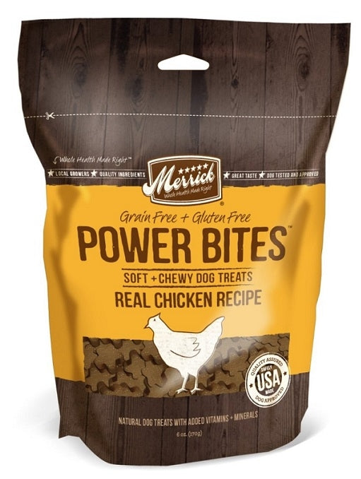 Merrick Power Bites Grain Free Chicken Recipe Dog Treats