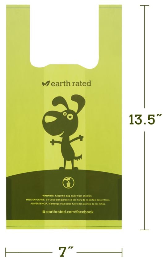 Earth Rated Unscented Dog Handle Bags 120-Count