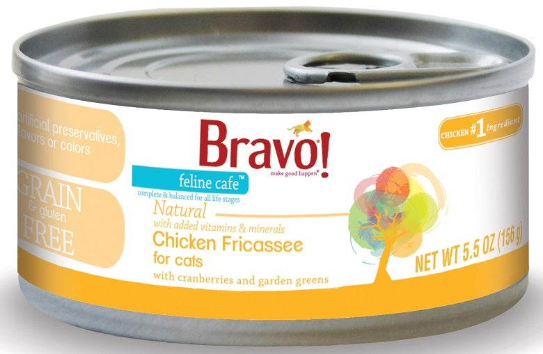 Bravo! Feline Cafe Grain Free Chicken Fricassee Canned Cat Food