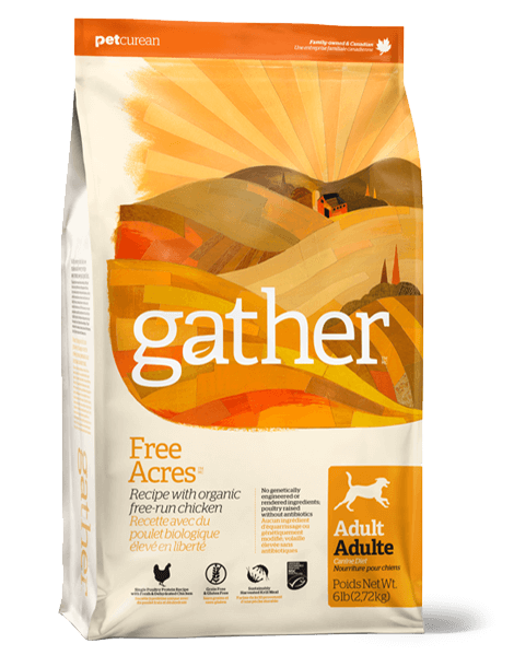 Petcurean Gather Free-Acres Organic Free-Run Chicken Recipe Adult Dry Dog Food