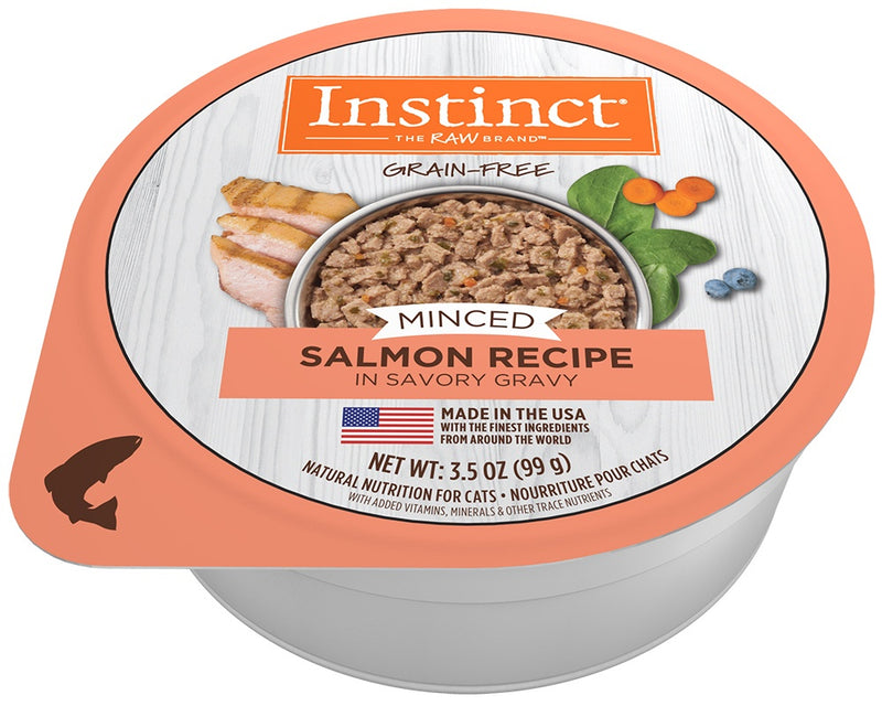 Nature's Variety Instinct Adult Grain Free Minced Recipe with Real Salmon Natural Cat food Cups