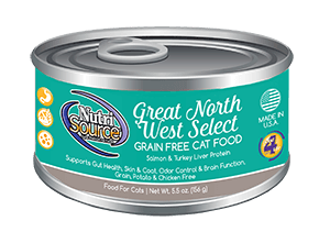NutriSource Grain Free Great Northwest Select Canned Cat Food