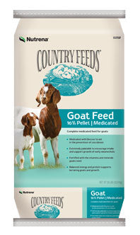 Country Feeds 16% Pelleted Goat Feed - Medicated