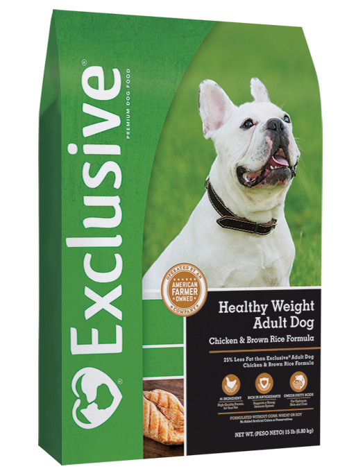 Exclusive Healthy Weight Adult Dog Chicken & Brown Rice Formula