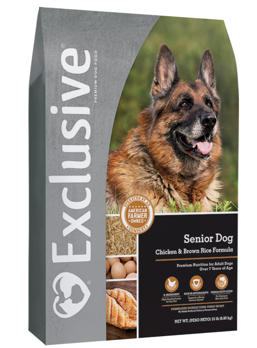 Exclusive Senior Dog Chicken & Brown Rice Formula