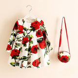 Elegant vintage dress with purse / Vestido vintage elegante con bolso