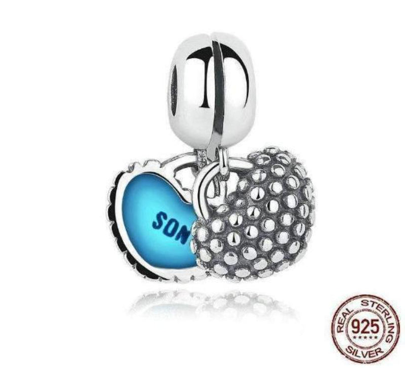 Mother & Son Piece Of My Heart Dangle Charm - Divine Looks