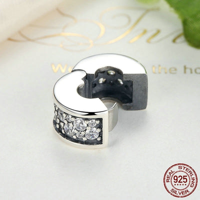 SHINING ELEGANCE Clip, 925 Silver with CZ