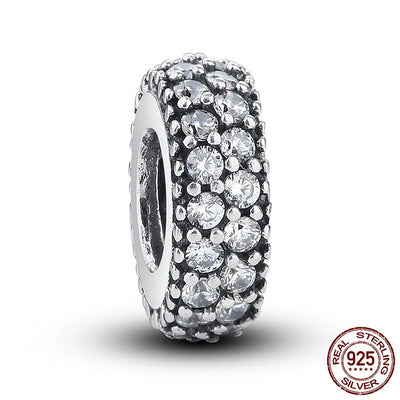 Inspiration Spacer Charm, 925 Silver, CZ