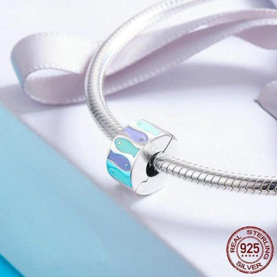 Cute Fishes Clip, 925 Silver, Enamel
