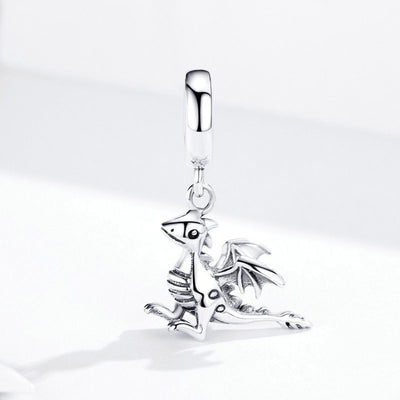 Dragon Dangle Charm, 925 Sterling Silver