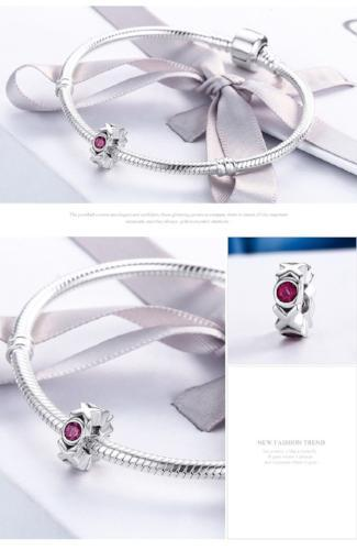 Kiss and Hug XOXO Spacer Charm, 925 Silver, CZ