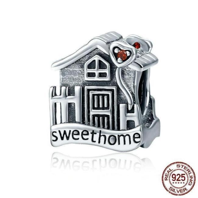 Sweet Home Loft Villa Charms, 925 Silver, CZ