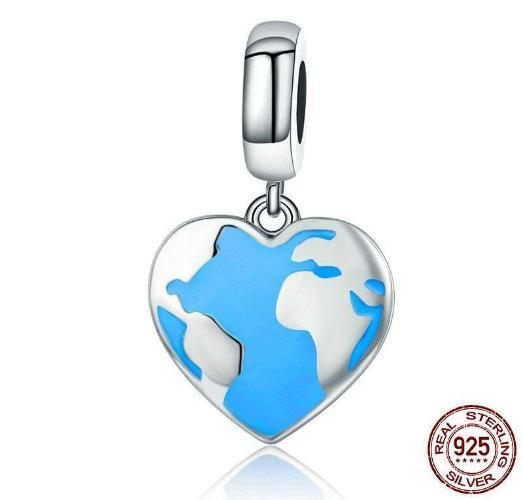 Rhythm of Earth, Dangle Charm, 925 Silver, Enamel